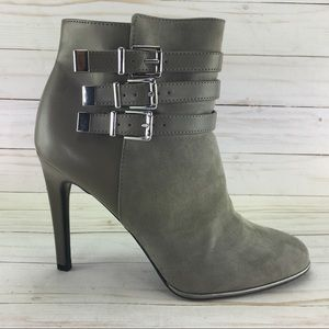 Sam & Libby Faux Suede Leather Booties size 8 1/2